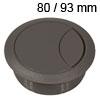 Kunststoff-Kabeldurchlass dunkelgrau 80/93 mm Kabeldurchlass Kunststoff dunkelgrau 80/93 mm