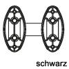 Distanzstück für Krawattenhalter in 3 Farben Distanzstücke für Kleiderhalter - schwarz