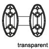 Distanzstück für Krawattenhalter in 3 Farben Distanzstücke für Kleiderhalter -  transparent