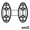 Distanzstück für Krawattenhalter in 3 Farben Distanzstücke für Kleiderhalter - weiß
