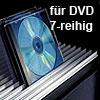Aluminium-Profil für DVD, 7-reihig silber B 3000 mm Profil Alu silber 3000 mm f. DVD