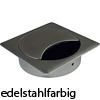 "Kabeldurchlass ""Q"", Ø 80 mm - Kantenmaß 90 x 90 mm - edelstahl finish"