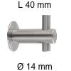 Edelstahl-Haken Länge 40 mm Kleiderhaken Ø 14 / L 40 mm