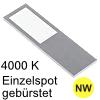 LED Unterbauleuchte Six Big Aluminium edelst. NW 1 Spot Alu, gebürstet - 4W - neutralweiß