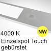 LED Unterbauleuchte Six Big Aluminium edelst. + Taster NW 1 Spot Alu mit TOUCH, gebürstet - 4W - neutralweiß