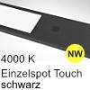 LED Unterbauleuchte Six Big Aluminium schw. + Taster NW 1 Spot Alu mit TOUCH, schwarz - 4W - neutralweiß