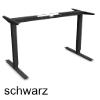 Tischgestell Basic 2D mit 500 mm Hub RAL9005 Steh-Sitz-Gestell 500 mm Hub, 2-Beine schwarz