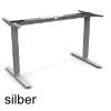Tischgestell Basic 2D mit 500 mm Hub weißaluminium Steh-Sitz-Gestell 500 mm Hub, 2-Beine silber