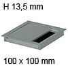 Kabeldurchführung Tisch G11S gerader Deckel 100 x 100 mm Exit G11S 13 alu - 100x100x13,5 mm
