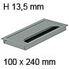Kabeldurchführung Tisch G11S gerader Deckel 100 x 240 mm Exit G11S 13 alu - 100x240x13,5 mm
