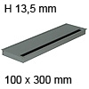 Kabeldurchführung Tisch G11S gerader Deckel 100 x 300 mm Exit G11S 13 alu - 100x300x13,5 mm