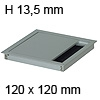 Kabeldurchführung Tisch G11S gerader Deckel 120 x 120 mm Exit G11S 13 alu - 120x120x13,5 mm