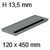 Kabeldurchführung Tisch G11S gerader Deckel 120 x 450 mm Exit G11S 13 alu - 120x450x13,5 mm
