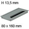 Kabeldurchführung Tisch G11S abgerundeter Deckel 80 x 160 mm Exit G11S 13 alu - 80x160x13,5 mm