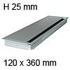 Kabeldurchführung EXIT G14Z Soft Close 120 x 360 mm Exit G14Z + Dämpfung alu - 120x360x25 mm