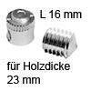 FF Gehäuse Ø 15x16 mm + Gewindestift für Holzdicke 23 mm FF Geh. 15x16 + Gew.-Stift M8x9 Set