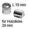 FF Gehäuse Ø 15x19 mm + Gewindestift für Holzdicke 29 mm FF Geh. 15x19 + Gew.-Stift M8x13 Set