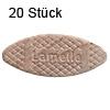 Flachdübel Lamello 20 für Nuttiefe 12 mm, 20 x Orig. Holzlamelle 56x23x4 mm, 20 Stück