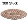 Flachdübel Lamello 20 für Nuttiefe 12 mm, 300 x Orig. Holzlamelle 56x23x4 mm, 300 Stück