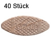 Flachdübel Lamello 20 für Nuttiefe 12 mm, 40 x Orig. Holzlamelle 56x23x4 mm, 40 Stück