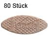 Flachdübel Lamello 20 für Nuttiefe 12 mm, 80 x Orig. Holzlamelle 56x23x4 mm, 80 Stück