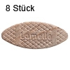 Flachdübel Lamello 20 für Nuttiefe 12 mm, 8 x Orig. Holzlamelle 56x23x4 mm, 8 Stück