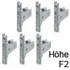 Frontbefestigungs-Set zum Schrauben für Höhe F, Version 2 LBX Fronthalter-Set Schraub., Höhe F (6xM)