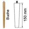 Möbelfuß aus Buchenholz, konisch L 150 mm Möbelf. Buche, Ø 34-25 mm / L 150 mm