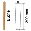 Möbelfuß aus Buchenholz, konisch L 390 mm Möbelf. Buche, Ø 34-25 mm / L 390 mm