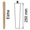 Möbelfuß aus Eichenholz, konisch L 250 mm Möbelf. Eiche, Ø 34-25 mm / L 250 mm