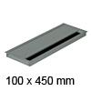 Kabeldurchführung Tisch G11S gerader Deckel 100 x 450 mm Exit G11S 13 alu - 100x450x13,5 mm