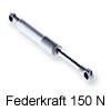 Kesseböhmer Kompressionsfeder / Gasdruckdämpfer für Soft-Lift- und HSB-Beschläge 150 Newton  (1 Stk. Abpackung)