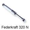 Lift o mat Stabilus / Gasdruckdämpfer für Soft-Lift- und HSB-Beschläge 320 Newton  (1 Stk. Abpackung)