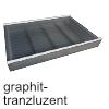 Gewürzdoseneinsatz cuisio T 473 mm, Graph/Alu Gewürzeinsatz 4-reihig 311 x 473 x 55 mm, graphit-transluzent
