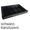 Gewürzdoseneinsatz cuisio T 473 mm, Schw/Alu Gewürzeinsatz 4-reihig 311 x 473 x 55 mm, schwarz-transluzent