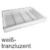 Gewürzdoseneinsatz cuisio T 473 mm, W/Alu Gewürzeinsatz 4-reihig 311 x 473 x 55 mm, weiß-transluzent