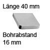 Relinggriff Edelstahl matt l-110 L 40 mm Griff Reling edelst. 40 mm
