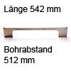 Relinggriff Edelstahl matt l-110 L 542 mm Griff Reling edelst. 542 mm