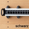 Krawattenhalter ausziehbar - B 500 mm Krawattenhalterung Farbe Schwarz