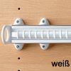 Krawattenhalter ausziehbar - B 500 mm Krawattenhalterung Farbe weiss