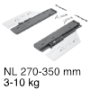 Push to open Silent für Actro 5D / YOU, < 10 kg Actro 10 kg, NL 270-350 mm - 3-10 kg
