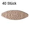 Flachdübel Lamello 10 für Nuttiefe 10 mm, 40 x Orig. Holzlamelle 53x19x4 mm, 40 Stück