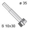 Zylinderkopfbohrer - HW, Ø 35 / L 90 / S 10x30 Zylinderkopfbohrer, Ø 35