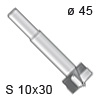 Zylinderkopfbohrer - HW, Ø 45 / L 90 / S 10x30 Zylinderkopfbohrer, Ø 45
