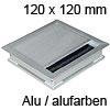 Kabeldurchlass Exit Edge 25 aus Aluminium / alu L 120 mm Exit Edge 25 Alu/alu - 120x120x25 mm