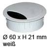 Kabeldurchlass ø 60mm - weiß Kabelauslass 60 mm weiß
