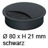 Kabeldurchlass ø 80mm - schwarz Kabelauslass 80 mm schwarz