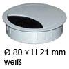 Kabeldurchlass ø 80mm - weiß Kabelauslass 80 mm weiß