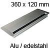 Kabeldurchlass Exit Edge 25 aus Aluminium / edelstahl L 360 mm Exit Edge 25 Alu/edelst. - 360x120x25 mm