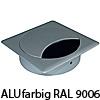 "Kabeldurchlass ""Q"", Ø 80 mm - Kantenmaß 90 x 90 mm - weißaluminium RAL 9006"